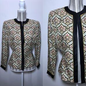 Vintage silk blazer